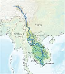 Highly Detailed River Map Of by Mekong Wikipedia