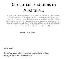 traditions in australia