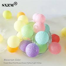 sxzm 3m 20led cotton led string light battery operated indoor