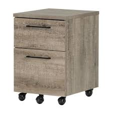 Mobile File Cabinet Munich 2 Drawer Mobile File Cabinet Weathered Oak South