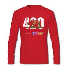 California Republic Flag Aliexpress Com Buy 420 California Republic Flag T Shirt Long