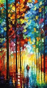 leonid afremov sun of january on canvas palette knife