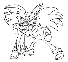 sonic vs shadow mexican standoff lineart by xero j on deviantart