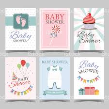 Baby Shower Card Invitations Baby Shower Card Set For Boy For Happy Birthday Party Its A