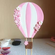 air cake topper hot air balloon fondant cake topper fondant cakes