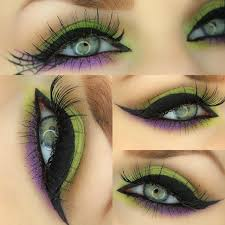 halloween eye makeup vampire black widow zombie witch black