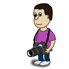 onlinelabels clip art comic characters camera
