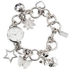 ladies steel bracelet images Komeng bargains coach zoe charm stainless steel bracelet ladies watch jpg