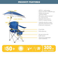 Kelsyus Premium Canopy Chair Red by Amazon Com Sport Brella Umbrella Chair Blue Sun Shelters