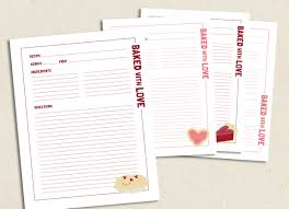 free printable recipe pages baked with love full size printable recipe pages recipes recipe