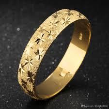 star bangle bracelet images Thick wedding bangle 18k yellow gold filled womens bangle bracelet jpg