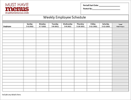 Employee Schedule Template Excel Employee Work Schedule Template 8 Free Word Excel Pdf Format