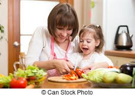 cuisine maman nourriture saine préparer maman enfant cuisine photographie de