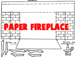 how to draw a christmas fireplace fire