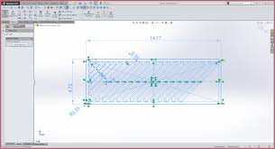 edit sketch pattern in solidworks how to pattern this sketch to automatically narrow and follow the