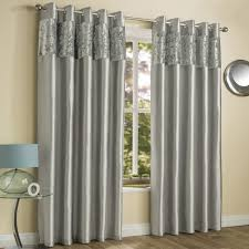 Grey And Silver Curtains Amalfi Silver Crushed Velvet Eyelet Curtains Tonys Textiles