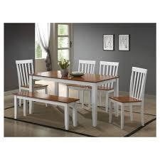 boraam bloomington dining table set bloomington 6 piece dining set white and honey oak boraam target