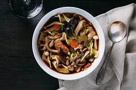 wild mushroom noodle soup recipe epicurious com