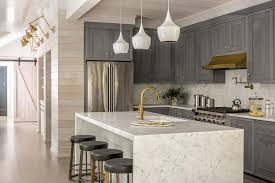 carrera waterfall kitchen island design ideas