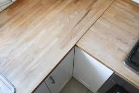 renovation plan de travail cuisine rénover un plan de travail de cuisine en bois merci pour le chocolat
