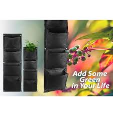 Wall Mounted Planters by Aliexpress Com Buy Large 4 Pockets Hanging Flower Pot Polyester