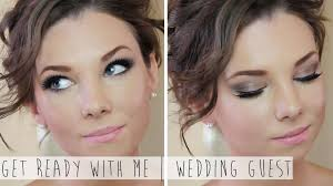 get ready with wedding guest u0026 makeup youtube