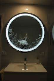 Battery Operated Lights For Pictures by Bathroom Cabinets Halo Wide Light Mirror Battery Operated Within