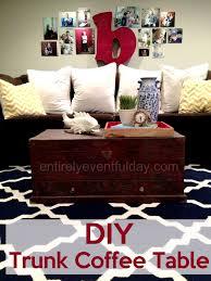 trunk coffee table diy diy trunk coffee table entirely eventful day