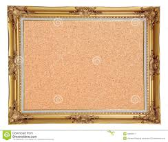 cork notice board with vintage frame royalty free stock