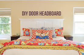 How To Make A Door Headboard by Awesome Making A Headboard Out Of A Door 52 For Your Custom
