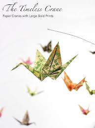 Hanging Paper Bird Decorations Giant Origami Paper Crane Hanging Mobile Washi Paper Bird