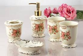 Wall Mounted Bathroom Accessories Sets by 5pc Vintage Ceramic Bathroom Accessories Set Antique Porcelain
