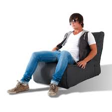 evolution bean bag chair black sapphire ambient lounge touch