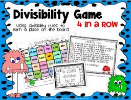 divisibility rules game elementary lesson plans