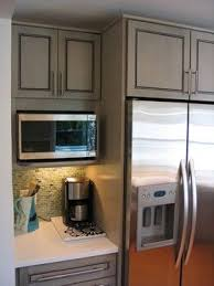 kitchen microwave ideas counter depth refrigerator this is the single best decision we