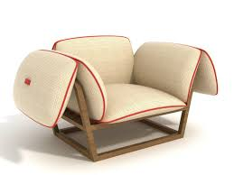 unusual garden armchair has futuristic design