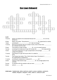 gas laws crossword quick starter activity by oums0030 teaching