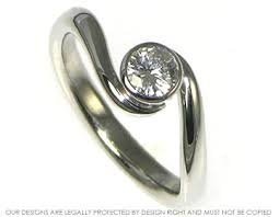 si e twist engagement ring with a 0 3ct e si