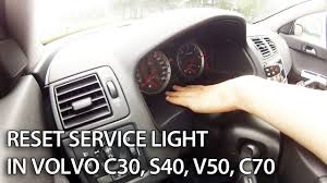 reset service light in volvo c30 s40 v50 and c70 this reset