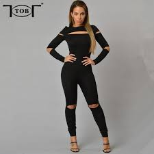 sleeve jumpsuits for 2016 style summer rompers jumpsuit plus size solid black