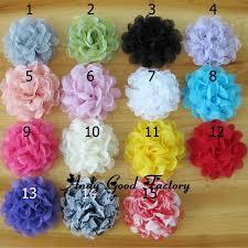 flowers for headbands 30pcs lot 4 tulle fabric flowers for headbands crochet hair