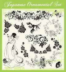 japanese styles ornaments design vector set 03 vector ornament