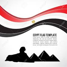 Egypt Flag Wallpaper Egypt Flag Wave And Giza Pyramid And The Great Sphinx Royalty Free