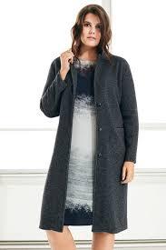 dark grey boyfriend coat