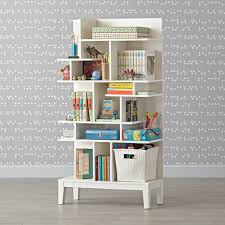 Tall Bookcase White by Modern Maze Tall Bookcase The Land Of Nod