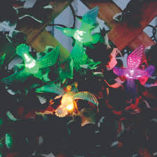 color changing solar string lights solar string lights 20 led color changing hummingbirds smart solar