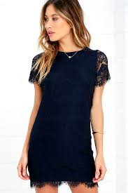 blue lace dress pretty lace dress navy blue dress shift dress 49 00