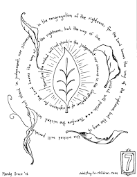 bible coloring pages by verse psalm 1 within psalm 139 page