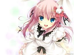 anime art meido maid uniform cosplay rabbit