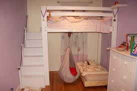 homemade full loft with desk interior design bunk beds for kids